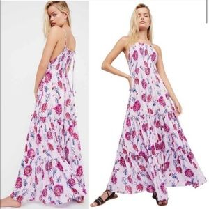FREE PEOPLE Garden Party Floral Maxi Dress size S